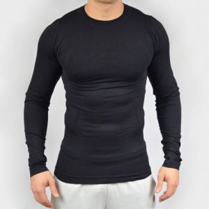 Camiseta Manga Longa Umbro Base Layer Preto