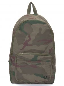 fred perry mochila masculina camouflage - verde