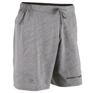 short masculino de corrida run dry plus night kalenji