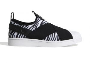 tênis adidas superstar slip-on zebra